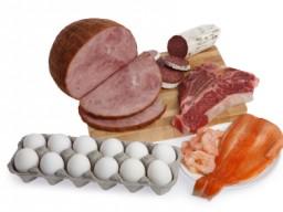 Fisch, Fleisch und Eier