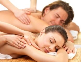 Bild Paar erhält Rückenmassage